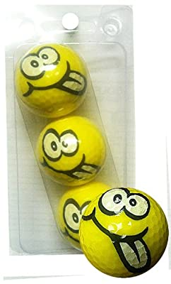 GBM Golf Smiley Novelty 3 Ball Sleeve, Goofy