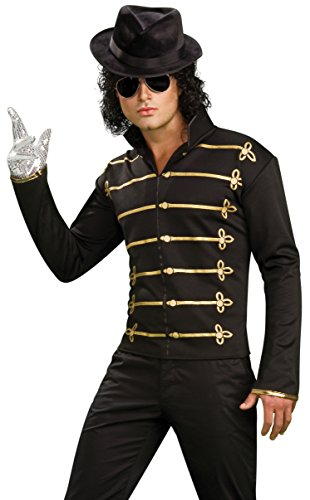 [Michael Jackson Military Printed Jacket, Adult Large Costume] (Mj Thriller Halloween Costume)