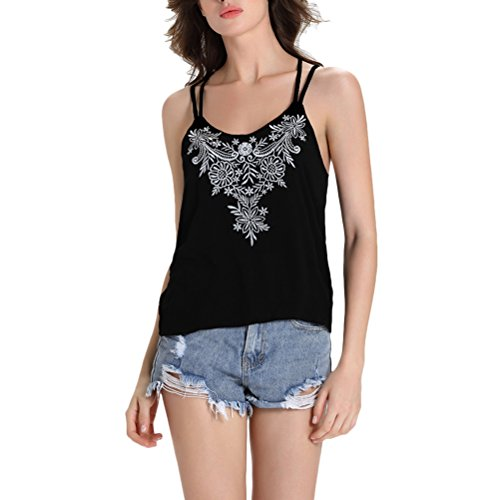 に向けて出発提供された何でもZhuhaitf ファッション 服 人気 Summer Soft & Comfort Backless V-neck Vest Womens Ladies Embroidery Shirt Camisole Tank Tops