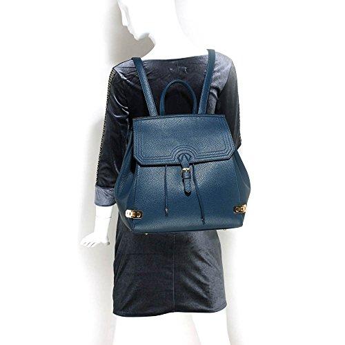 TrendStar - Bolso estilo cartera de piel sintética para mujer A - Navy