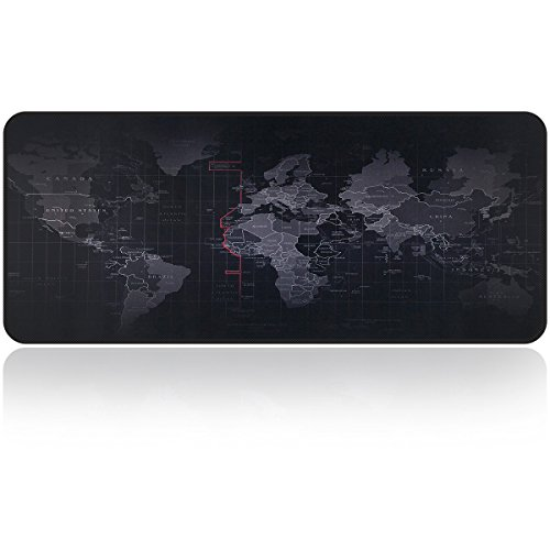 - Large Gaming Mouse Map Pad With Nonslip Base|Extended XXL Size, Heavy|Thick, Comfy, Waterproof & Foldable Mat For Desktop, Laptop, Keyboard, Consoles & More|Enjoy Precise & Smooth Operating Experience