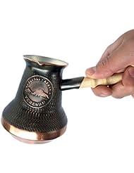 4 cup (12 Fl Oz) Handmade Armenian Coffee Pot Maker Copper Jazva Ararat Turkish Arabic Greek Cezve Jezve Ibrik Turka Jazzve Jazve Wooden Handle