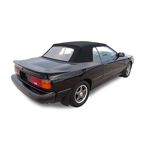 (Compatible With Toyota Celica 1987-1989 Convertible Soft Top Replacement Black Pinpoint Vinyl)