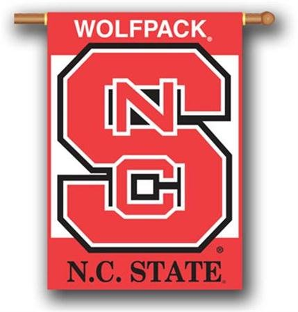 NCAA North Carolina State Wolfpack 2-Sided 28-by-40 inch House Banner with  Pole Sleeve ()