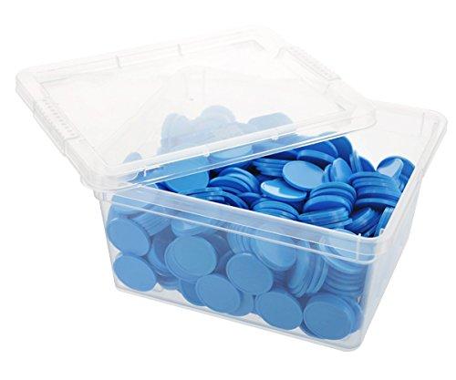 En-Joy Unbedruckte Pfandmarken - Hellblau - 500 Plastikmünzen - 29 mm