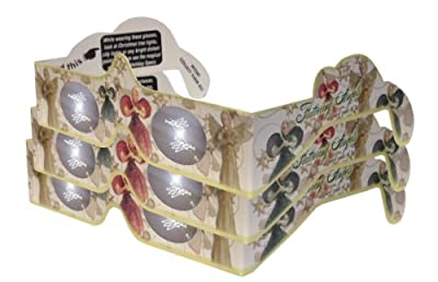 3d Christmas Glasses - Holiday Specs - Transform Christmas Lights Into Magical Messages - Fluttering Angels - 3 Pairs
