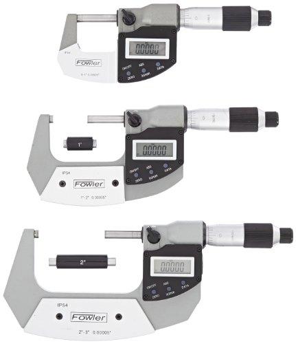 Fowler Rugged Steel Xtra Value IP54 Digi-Micrometer, 0-3