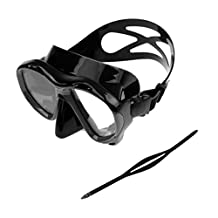 MagiDeal Adult Scuba Diving Snorkeling Freediving Mask Snorkel Set with Mask Strap Replacement