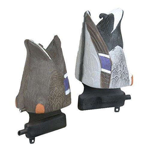 Master Series Mallard Feeder Decoys, Pack of 2 (1 Drake, 1 Hen)