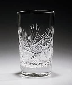 Handcut crystal 9 ounce Gin and Tonic Glasses - Set of 6 - Pinwheel