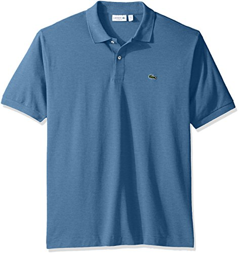 Lacoste+Men%27s+Short+Sleeve+Classic+Fit+Chine+Pique+Polo%2C+Horizon+Blue+Chine%2C+3