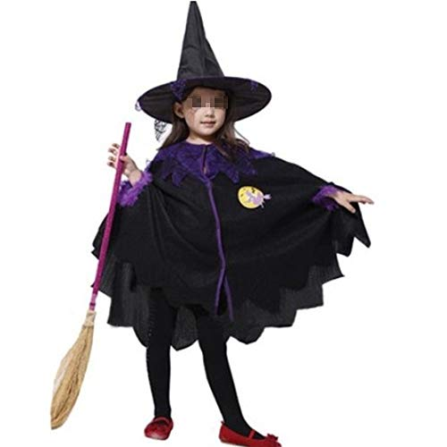 JIKF-shirt Halloween Costume for Kids Vampire Witch Princess
