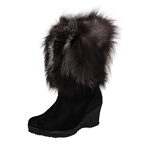 Regina Angelina Winter Boot Womens Black/Silver Fox smwv2j