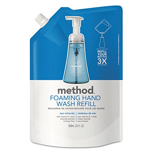 - Method 00667 Foaming Hand Wash Refill, Sea Minerals, 28 oz Pouch