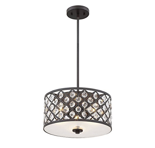 Drum Pendant Lighting Bronze Finish
