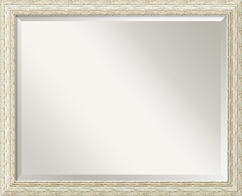 White Finish Ribbed Glass - 4