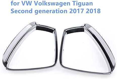 2 moldura y accesorio para Tiguan de segunda generación 2017 y 2018 coches de High Flying con ABS funda de plástico cromado ABS para retrovisor lateral repele la lluvia