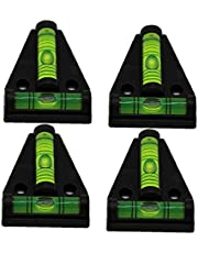 T Type Bubble Level Cross Check Spirit Furniture Leveling Tool with Mounting Hole 4PCS Accurate Ranging
