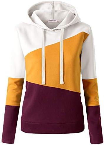 CLOVERY Women's Solid Hoodie Pocket Long Sleeve Hoodie