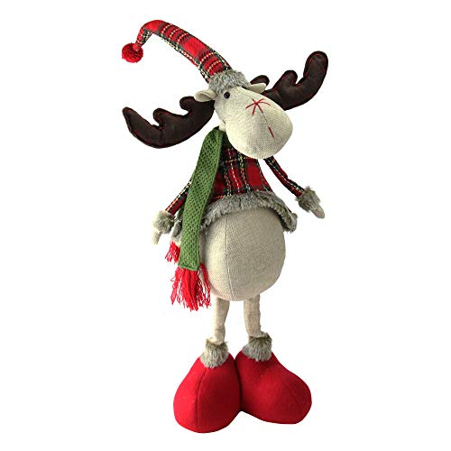 (Northlight NL00278 Plaid 2 Leg Standing Decorative Deer, 28.5