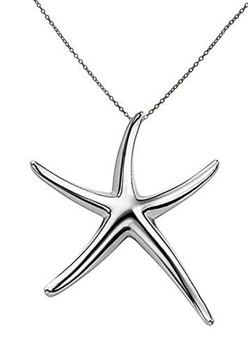 Starfish Pendant Necklace Sterling Silver .925 Designer Style 16