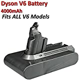 4000mA Dyson Battery 21.6V for V6 Series Vacuum Cleaner DC58 DC59 DC61 DC62 Li-ion Battery