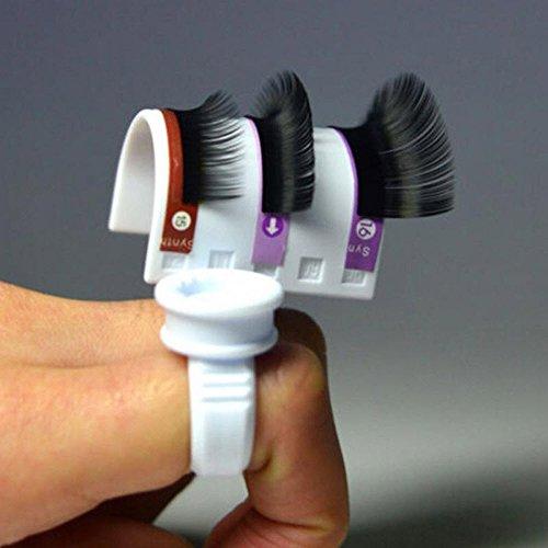 (Lash Pallet+Ring) 2 pcs / set Eyelash Extension Glue Ring Adhesive Eyelash Pallet Holder Set Makeup Kit Tool Make up Anastasia Set Ring