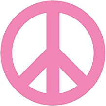 Peace Sign Symbol Car Window Wall Laptop Decal Sticker (3in X 3in, Light Pink)