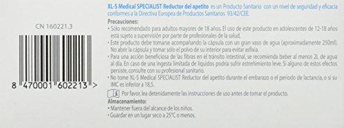 XLS Medical  - Cápsulas reductoras del apetito. Tratamiento y prevención del exceso de peso y control general del peso 8