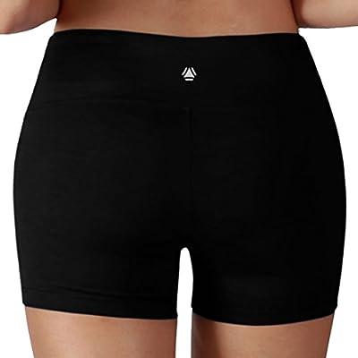 Yoga Reflex - Yoga Shorts for Women - Running Yoga Short Pants - Hidden Pocket