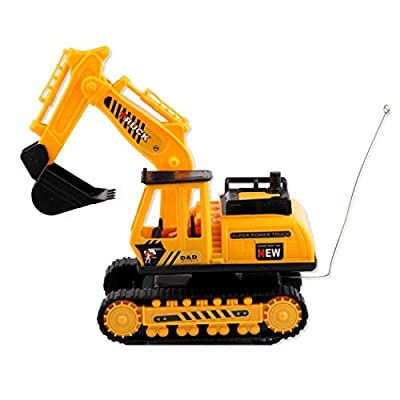 Villeur Car Excavator Kids Toy Crawler Digger Electric 2 Channel Remote Control Activity Play Centers : Baby
