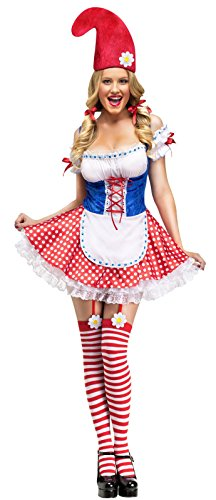 Sexy Gnome Adult Costume - Medium/Large (Lawn Gnome Halloween Costumes)