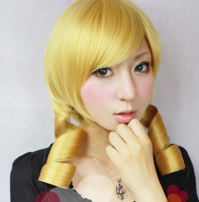 Tomoe Mami Costume (Heat-resistant wig Puella Magi Madoka Magicaa Tomoe Mami cosplay wig costume (japan import) by sweet-tokyo-shop)