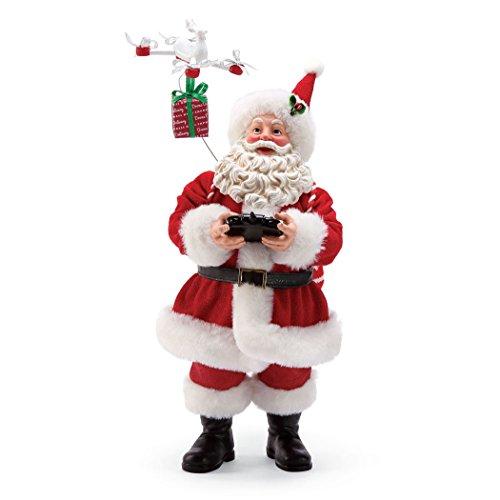 "Price comparison product image Department 56 Possible Dreams Santa's 6001683 Drone Delivery Figurine,  11"""