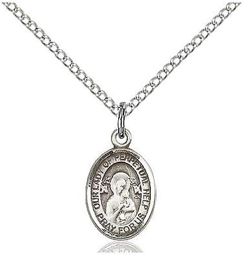 DiamondJewelryNY Sterling Silver O//L of Perpetual Help Pendant