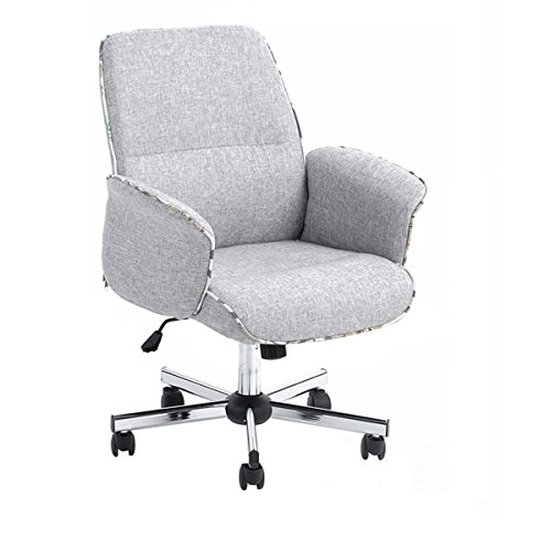 Homy Casa Leisure Grey Fabric Home Office Chair Height Adjustable Chair Review
