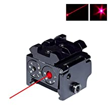 Twod Tactical Red Dot Laser Sight Low Profile Compact for Pistol/Rifle/Gun, with Rails for Mounting Additional Accessories