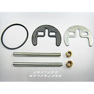 AUMIX - Miscelatore per lavabo o lavello da cucina, a due fori, a forma di mezza luna, kit di fissaggio 41ptawXUoJL. SS300