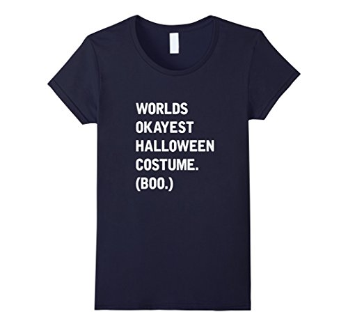 Womens Lazy Halloween Costume T-Shirt Ironic Funny Tee Medium Navy
