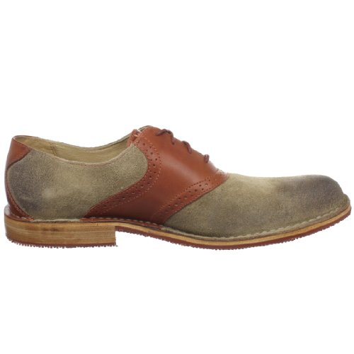 Sebago Mens Storrow Saddle Oxford Red/Brown/Taupe POiLHrfv
