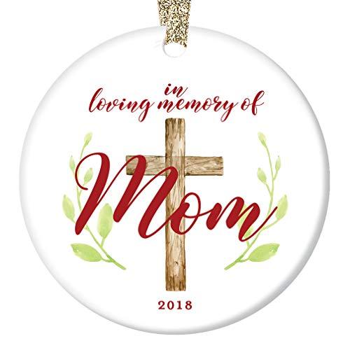Memories Porcelain - Loving Memory Mom Ornament Christmas 2018 Remember & Honor Mommy Mother Mama Porcelain Keepsake Memorial Gift 3