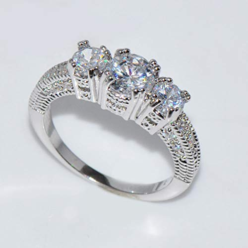 Toponly Cubic Zirconia Diamond Eternity Engagement Wedding Band Ring for Girls Mother by Toponly (Image #3)