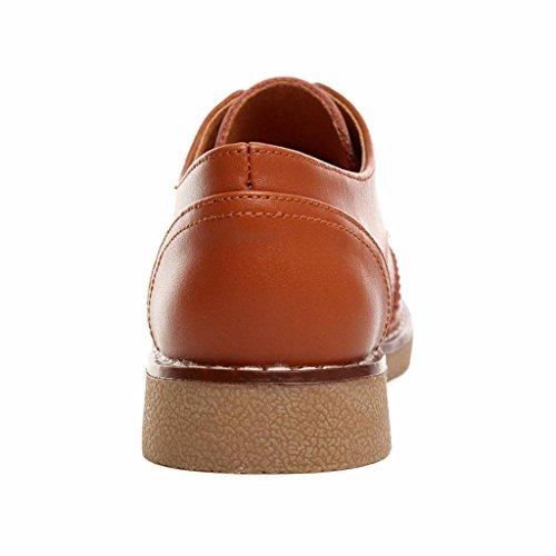 Mujer Marron Moonwalker Oxford Zapatos de Cuero TAxHOzntH