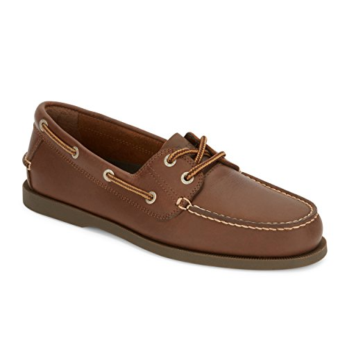 G.H. Bass & Co. Mens Asbury Classic Leather Boat Shoe, Rust, 7 M