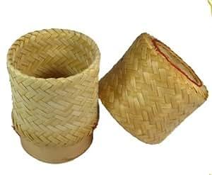 Amazon.com: Thai Lao Sticky Rice Single Serving Bamboo