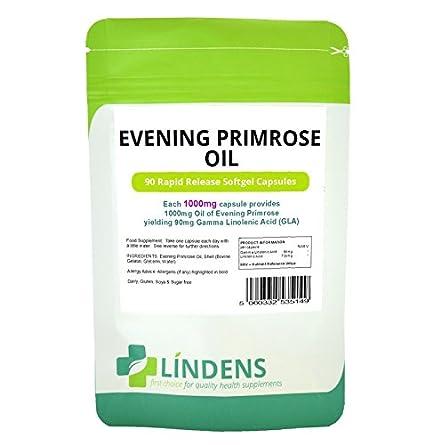Aceite de Onagra 1000 mg de 3 PACQUETE 270 Caps vitamina E ácido gamma linolénico