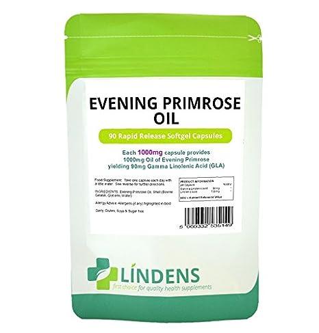 Aceite de Onagra 1000mg 2-PACQUETE 180 Caps vitamina E ácido gamma linolénico