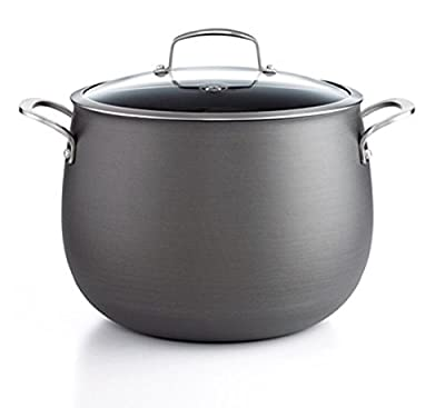Belgique Hard Anodized Covered Stockpot, 12 Qt
