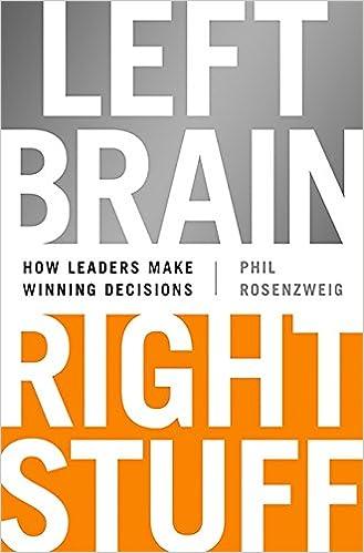 Left brain right stuff how leaders make winning decisions phil left brain right stuff how leaders make winning decisions phil rosenzweig 9781610393072 amazon books fandeluxe Choice Image