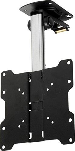 Ceiling or Wall HDTV Mount, Holds 17″-37″ TV, VESA Compliant, Adjustable Height (Steel)